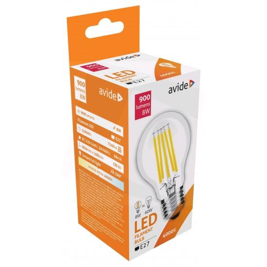 LED szálas-gömb E27 - 8 W, Avide