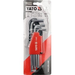 Imbusz kulcs klt. 9 db-os CV 1,5-10 mm gömbvégű