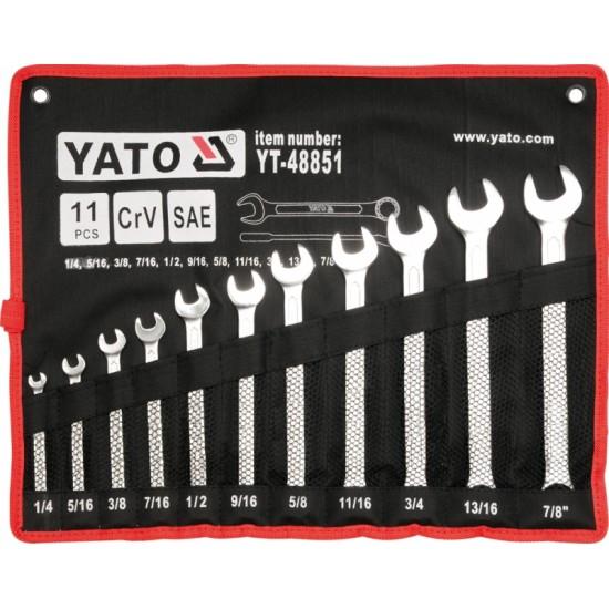 Csillag-Villás kulcskészlet 12 db-os YATO