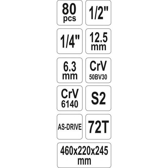 Szerszámos szett 80 db-os YATO
