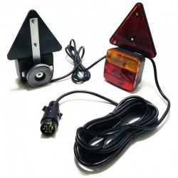 Hátsó lámpa szett, mágneses, 12-24V